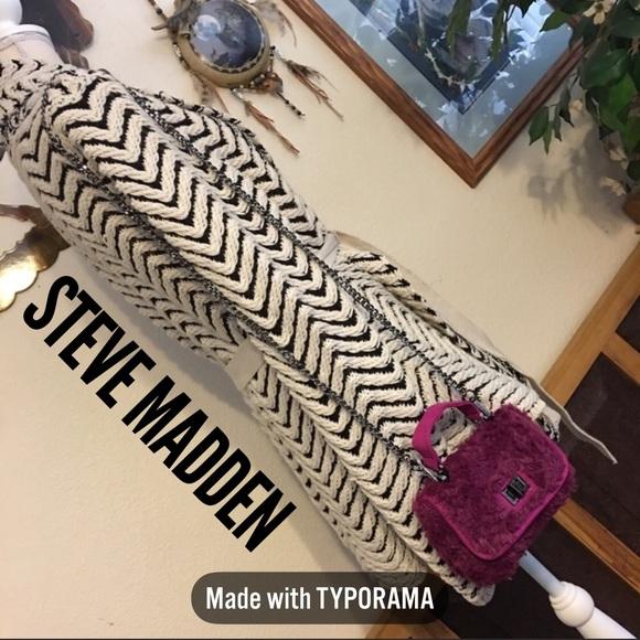 Steve Madden Handbags - STEVE MADDEN BAMELIE MAGENTA FAUX FUR BAG NWT